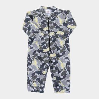 Pijama Macacão Moletom Bebê Elian Peluciado Masculino