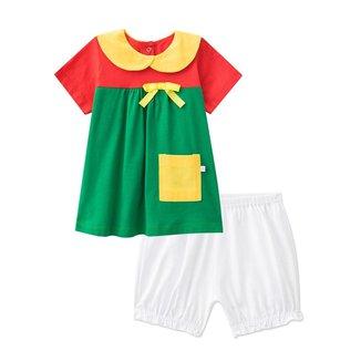 Pijama Manga Curta Bebê - Maria Chiquinha Feminino