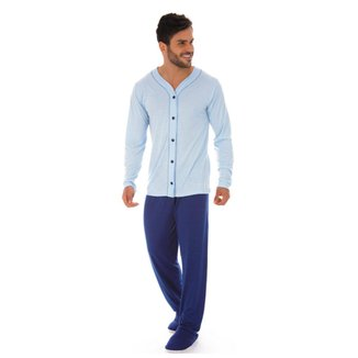 Pijama masculino com botões meia malha Victory
