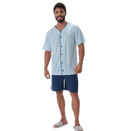 Pijama masculino de verão manga curta ABERTO Victory