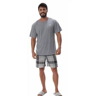 Pijama masculino de verão manga curta XADREZ Victory