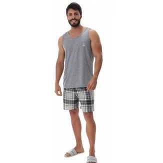 Pijama masculino de verão regata XADREZ Victory