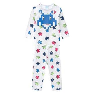 Pijama Moletom Bebê Kyly Peluciado Brilha no Escuro Masculino