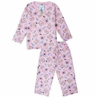 Pijama Moletom Infantil Babié Feminino Ursa