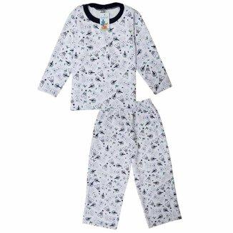 Pijama Moletom Infantil Babié Masculino Coelho