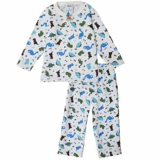 Pijama Moletom Infantil Babié Masculino Dinossauro