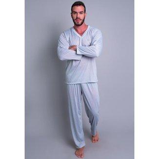 Pijama Mvb Modas Blusa Manga Comprida E Calça Masculino