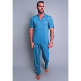 Pijama Mvb Modas Longo Manga Curta Masculino