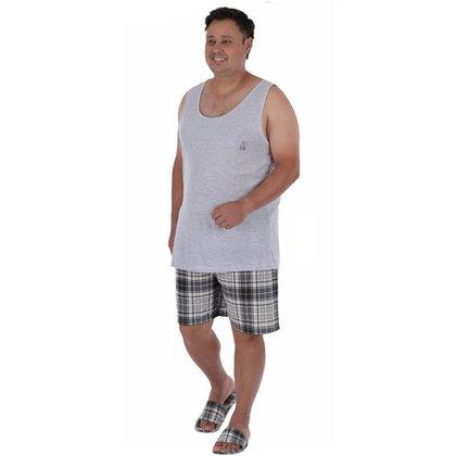 Pijama plus size masculino de verão regata XADREZ Victory
