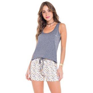 Pijama Regata Geométrico Feminino