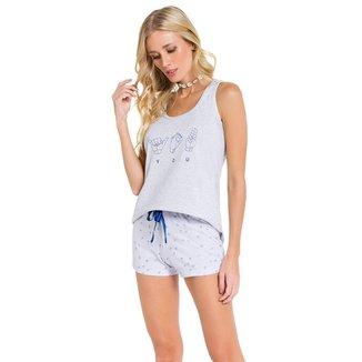 Pijama Regata Good Vibes Feminino