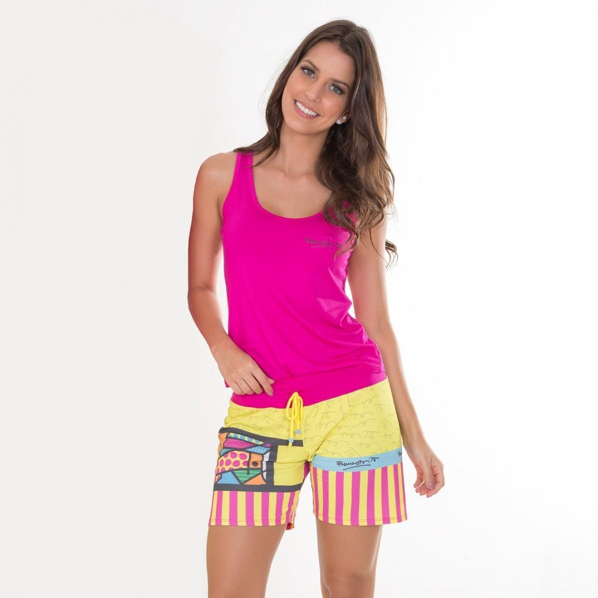 Rosa Pijama Regata Regata 08621 Viscose Recco Pijama YFY8wqr