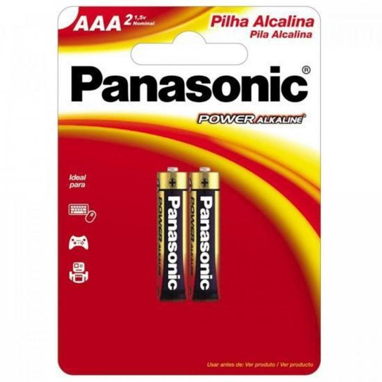 Pilha Alcalina AAA Blister com 2 LR03XAB/2B192 - Preto