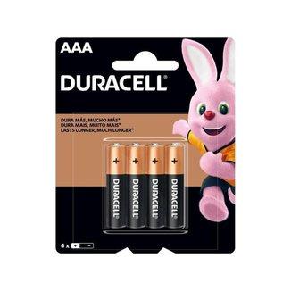Pilha Duracell AAA Palito Alcalina 4 Unidades