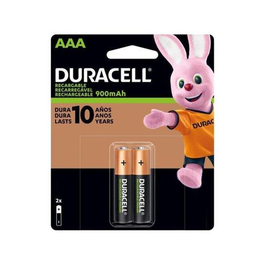 Pilha Duracell Recarregável AAA Palito 900 mAh 2 Unidades - Colorido