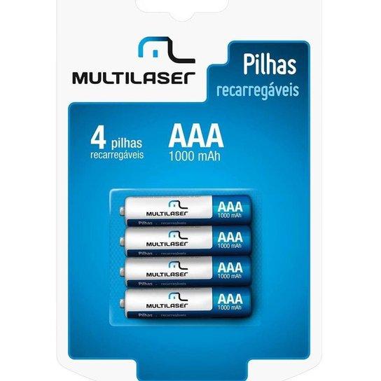 Pilhas Recarregáveis Multilaser Aaa 1000Mah Com 4 Unidades Cb050 - Amarelo+Preto