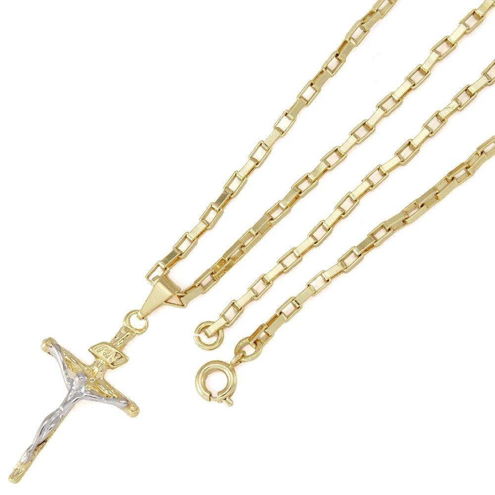 084b2055a8f Pingente Tudo Joias Cruz Com Corrente Cartier Folheada Ouro 18K - Compre  Agora