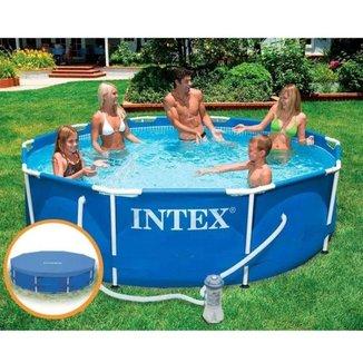 Piscina Intex 4.485 Litros Estrutural Capa Bomba Filtrante 110v