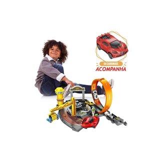 Pista De Carrinhos Speedster Pit Stop Com Looping - Polibrinq