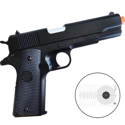 PISTOLA DE AIRSOFT 1911 é um modelo desenvolvido pela KWC, baseado na pistola 1911, muito comum nos EUA. Corpo e magazin...