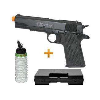 Pistola Airsoft Colt 1911A1 Semi Metal 6,0mm 2000 bbs Case