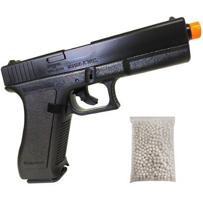 Pistola Airsoft Kwc K17 Com Trava De Segurança Full Abs Com 1000 Bb's 0,12G - Unissex