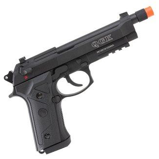 Pistola de Airsoft a Gás GBB Green Gas QGK 92 A3 BK Blowback Full Metal Preta 380 FPS - QGK