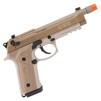 Pistola de Airsoft a Gás GBB Green Gas QGK M9 A3 Blowback Full Metal Tan 328 FPS - QGK