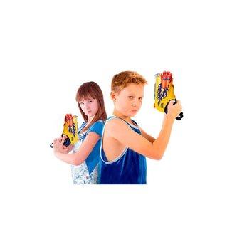 Pistola De Brinquedo Lançador De Dardos Nerf - Supershot Blaster - Amarelo - Polibrinq