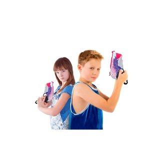 Pistola De Brinquedo Lançador De Dardos Nerf - Supershot Blaster - Rosa - Polibrinq