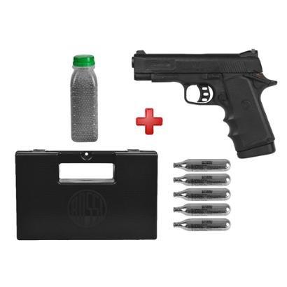 Pistola de Pressão CO2 Gamo V-3 4.5mm + Esferas de Aço 4100un. + 05 Cápsulas CO2 + Case Maleta - Unissex