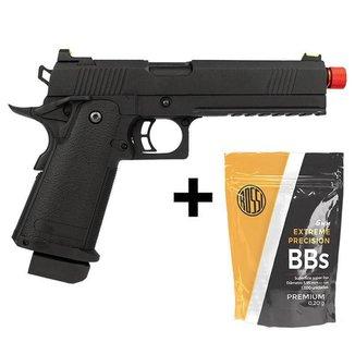 Pistola Rossi Black Devil Blowback Green Gás Metal + 1.000 Bbs