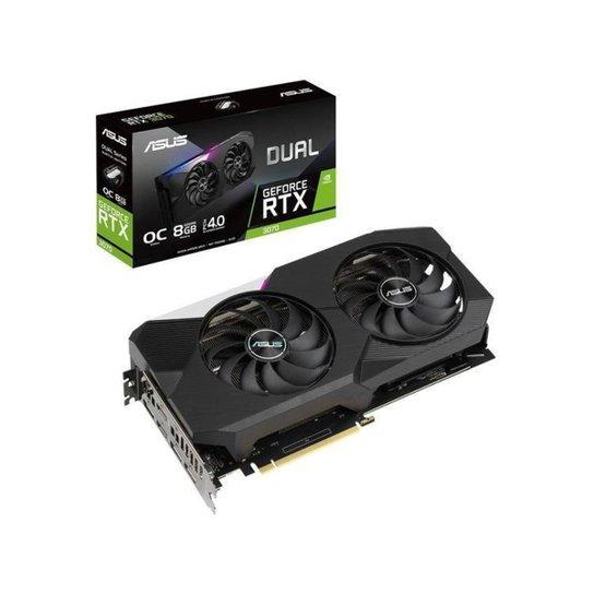 Placa de Vídeo Asus GeForce RTX 3070 8GB - Preto