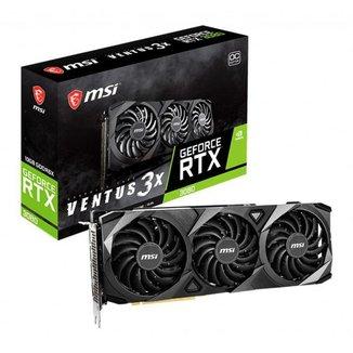 Placa de Video MSI GeForce RTX 3080 Ventus 3x OC Edition, LHR, 10GB, GDDR6X, 320-bit, 912-V389-212
