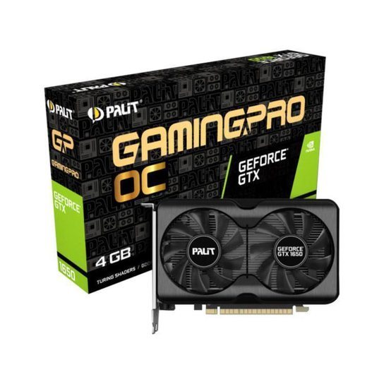 Placa de Vídeo Palit GeForce GTX 1650 - Preto