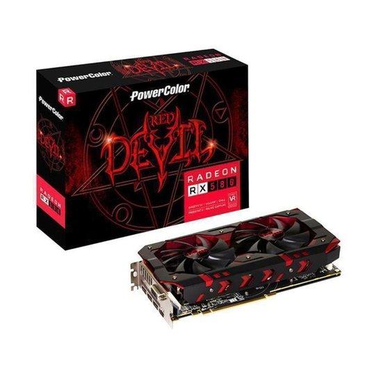 Placa de Vídeo Power Color Radeon RX 580 8GB - Preto+Vermelho