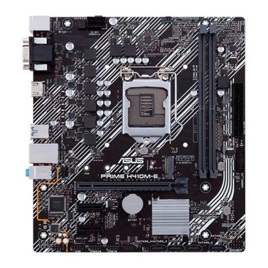 Placa Mae Asus PRIME H410M-E DDR4 Socket LGA1200 Intel H410, PRIME-H410M-E - Preto