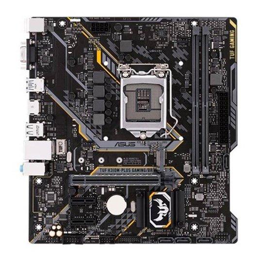 Placa Mae Asus TUF H310M-PLUS GAMING/BR DDR4 Socket LGA1151 Chipset Intel H310 - Cinza+Preto