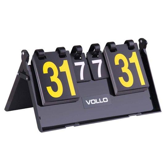 Placar Vollo De Mesa Multi Esporte Vt606 7 Sets 31 Pontos Em Pvc - Preto