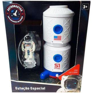 Playset Estação Espacial Fun com Astronauta Com Som e Luz
