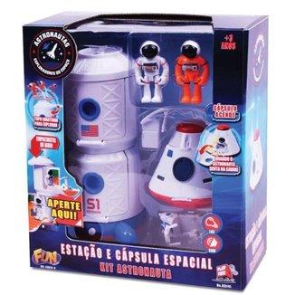 Playset Veículo e Figura Fun Astronauta Estação e Capsula Espacial