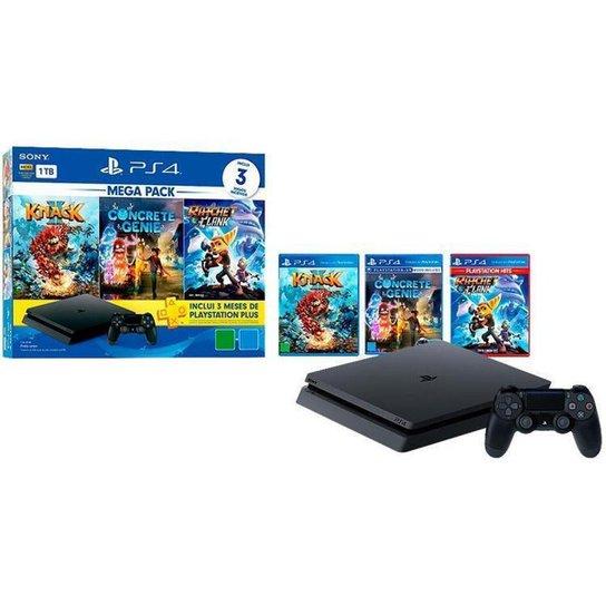 PlayStation 4 Mega Pack Family 1TB 1 Controle - Preto