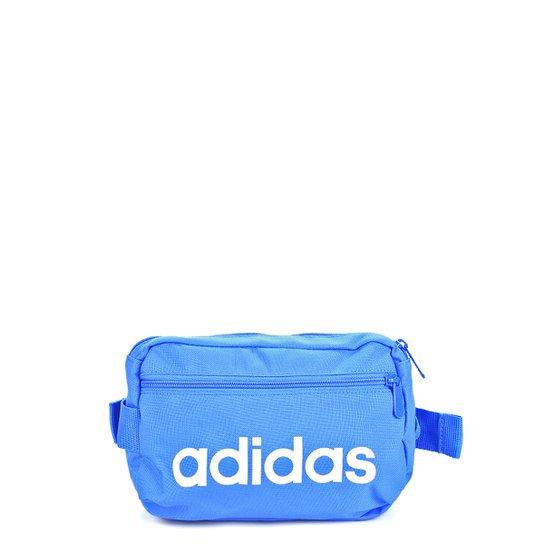 Pochete Adidas Lin Core Waistb - Azul+Branco