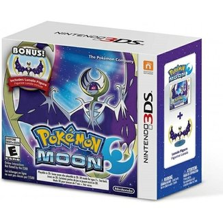 Pokemon Moon + Bonus Lunala Figure - 3Ds