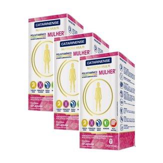 Polivitamínico A Z Mulher 3 un de 60cps. Catarinense