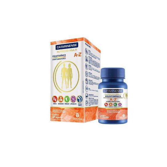 Polivitamínico A Z tem CDZ 60 cápsulas Catarinense - Branco+Laranja