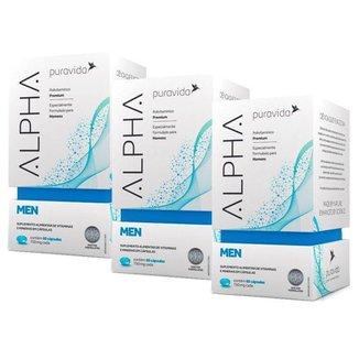 Polivitamínico Alpha Men 3 unidades de 60 Cápsulas Puravida