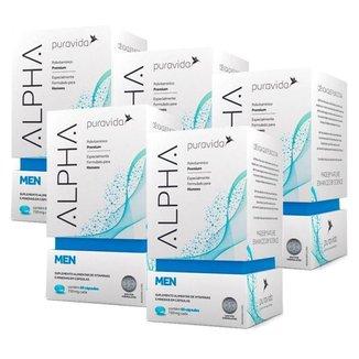 Polivitamínico Alpha Men 5 unidades de 60 Cápsulas Puravida