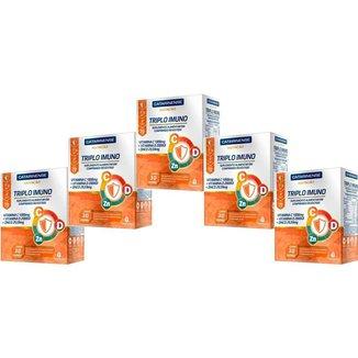 Polivitamínico Triplo Imuno 5 un com 30cpr. Catarinense Cor::Único
