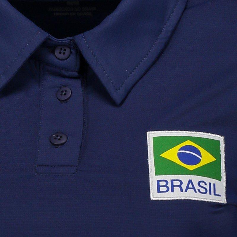 8a5b7f677a Polo Asics Brasil Vôlei Viagem 2017 Feminina - Azul - Compre Agora ...